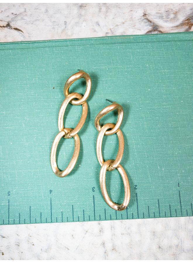 Gold Chain Dangle Earrings
