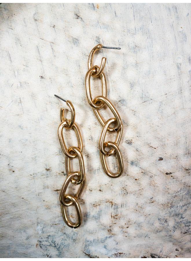 Mini Gold Chain Dangle Earrings