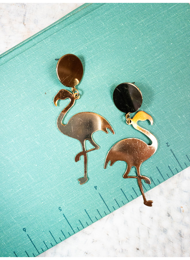Flamingo Dangle Earrings