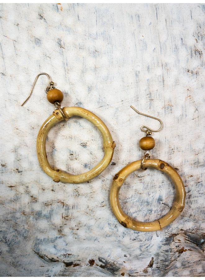 Bamboo Circle Earrings