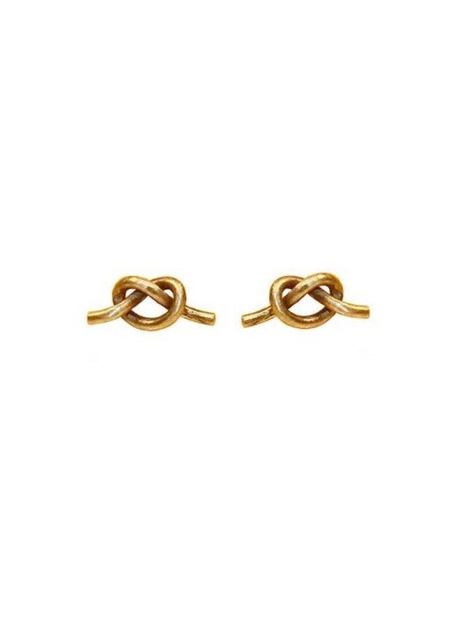 Knot Studs  Brass