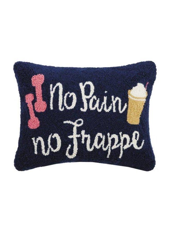 No Pain No Frappe Hook Pillow