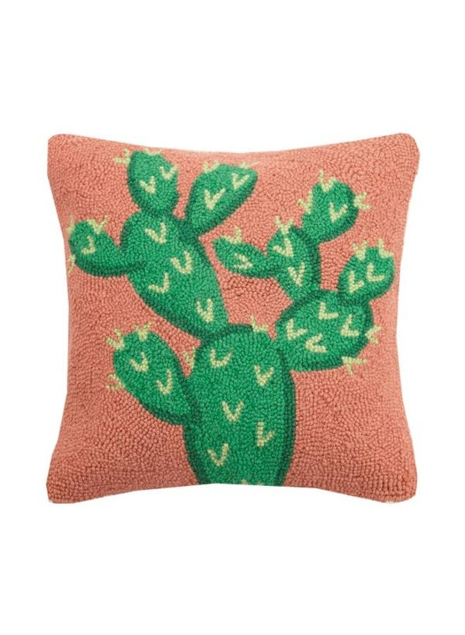 Prickly Pear Cactus Hook Pillow
