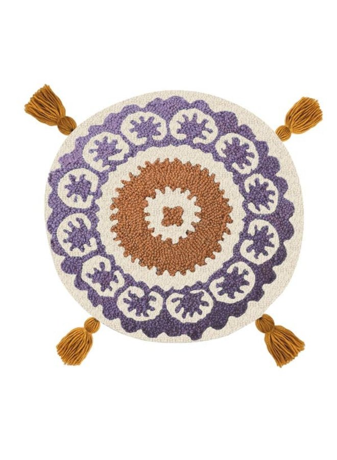 Flor With Tassels Hook Pillow