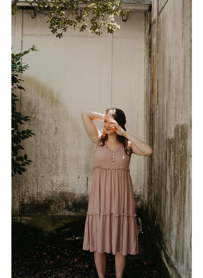 Twig Tie Sleeve Maxi Dress