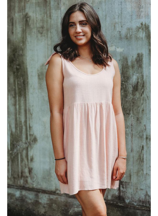 Mauve Babydoll Mini Dress