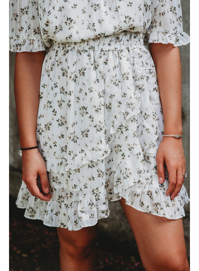 Floral Off the Shoulder Mini Dress