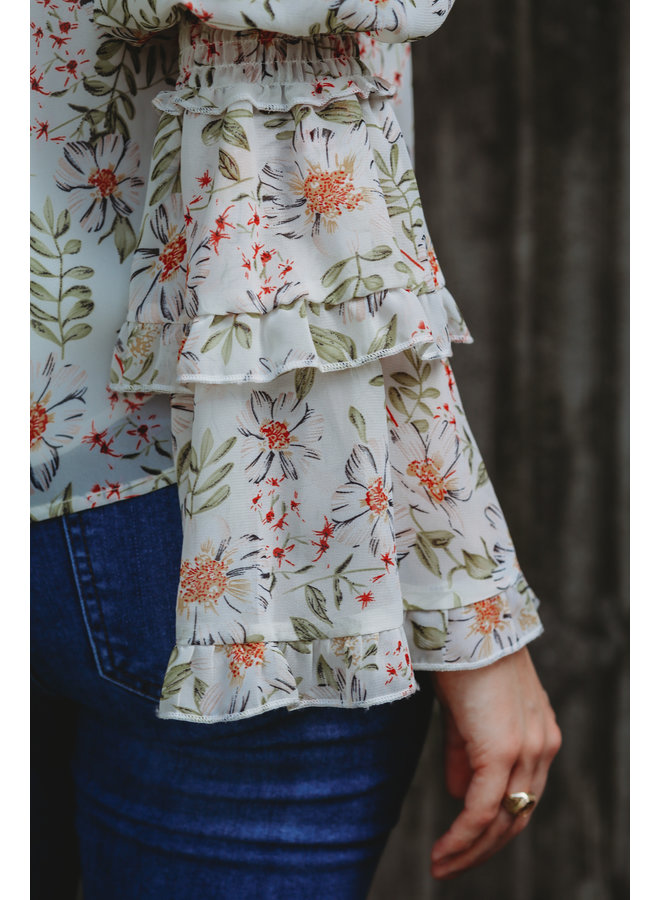 Off Shoulder Floral Print Top