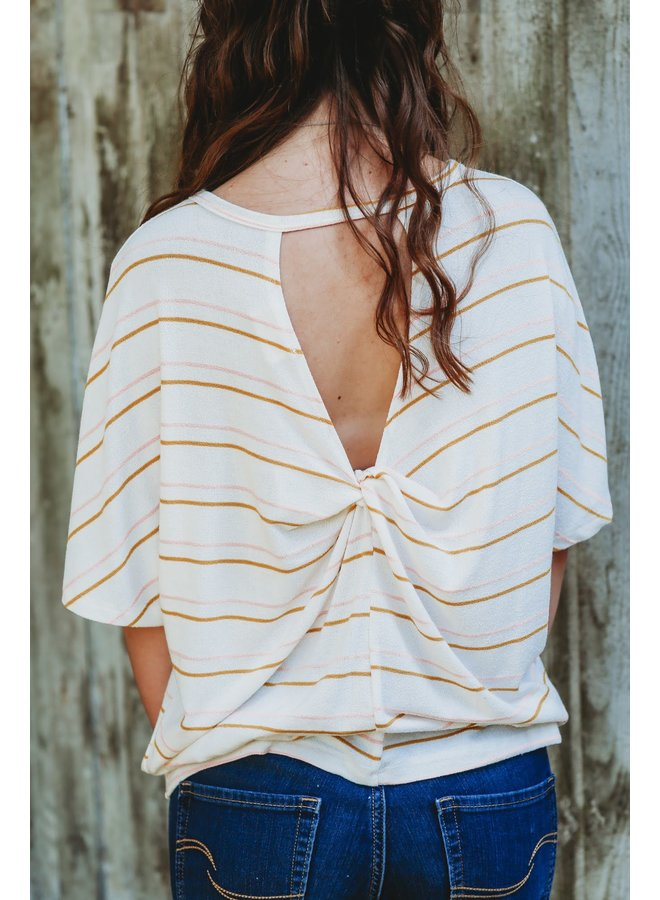 Ivory Combo Kit Double Stiried Back Twisted Top
