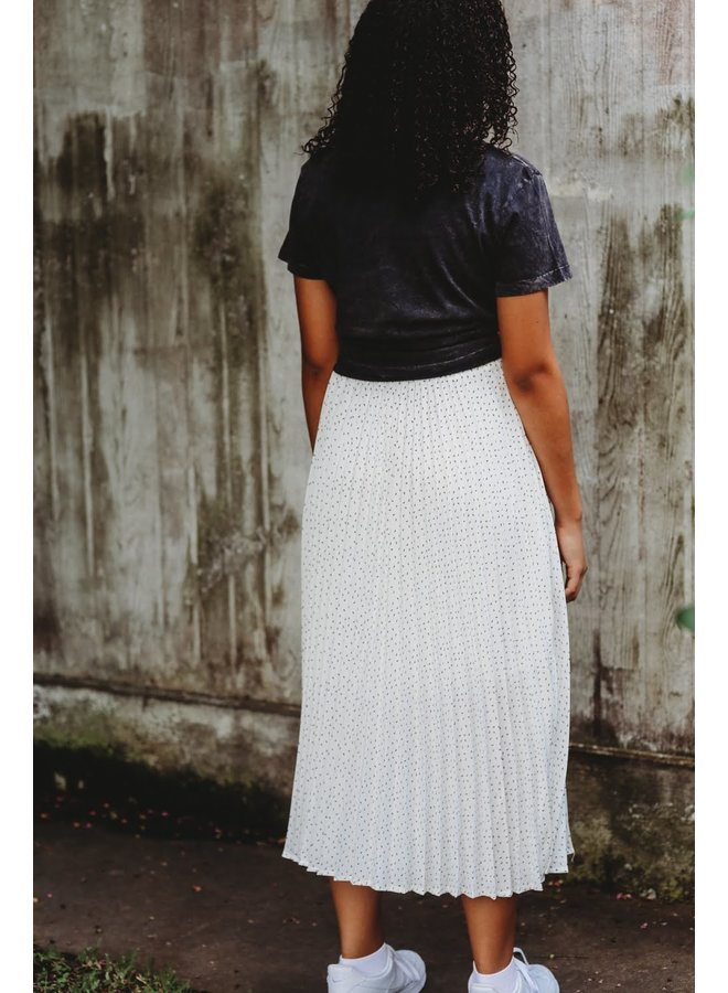 Ivory Tiered Long Skirt
