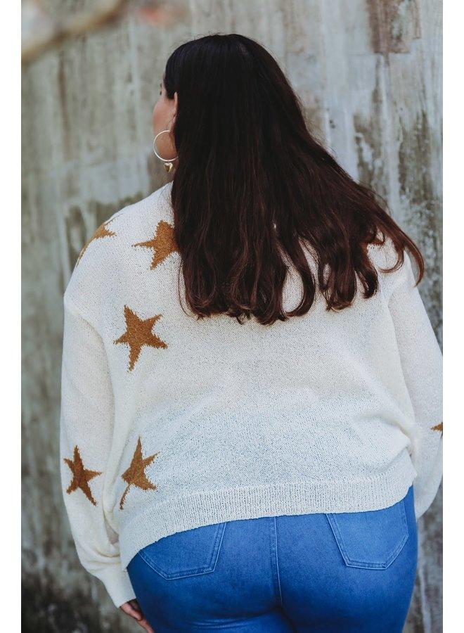 Oversized Star Sweater