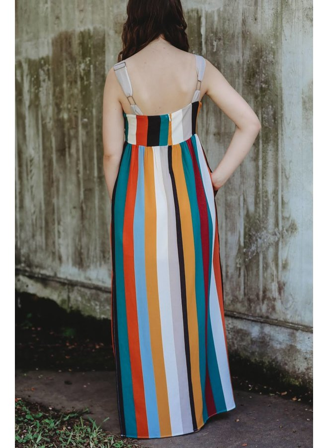Autumn Striped Maxi
