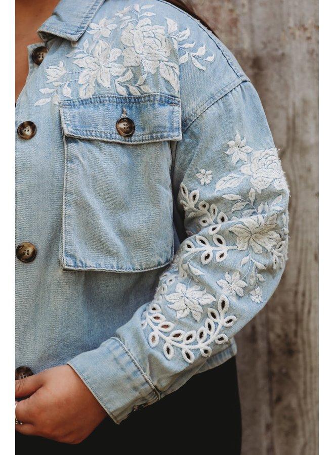 Embroidered Detailed Denim Jacket