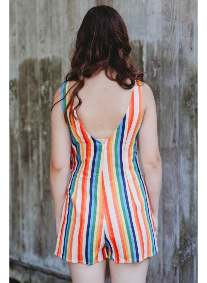 Malibu Dress Multi Striped