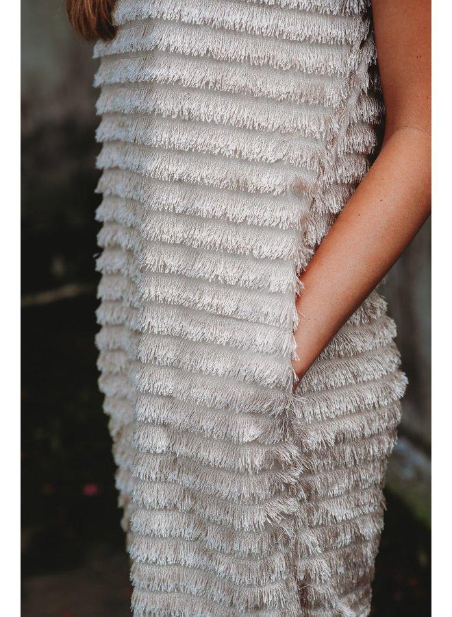 Champagne Tassel Dress