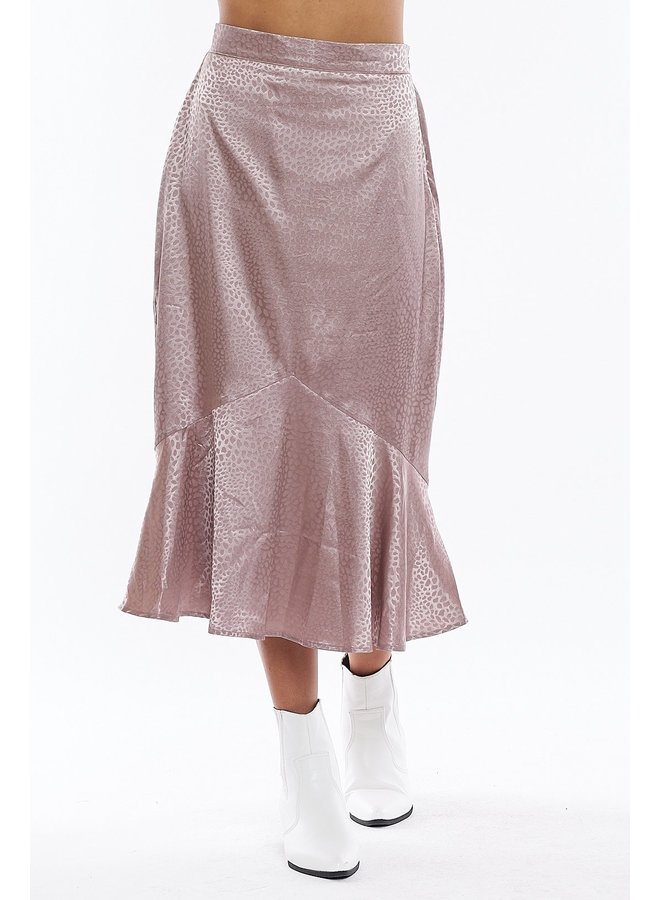 Lavender Silk Skirt