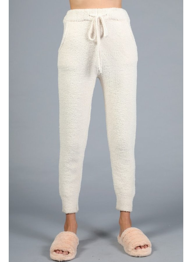 Cream Lounge Set Joggers