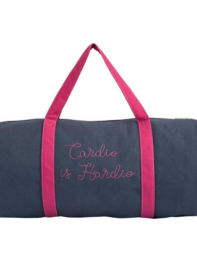 Cotton Navy Cardio Gym Bag
