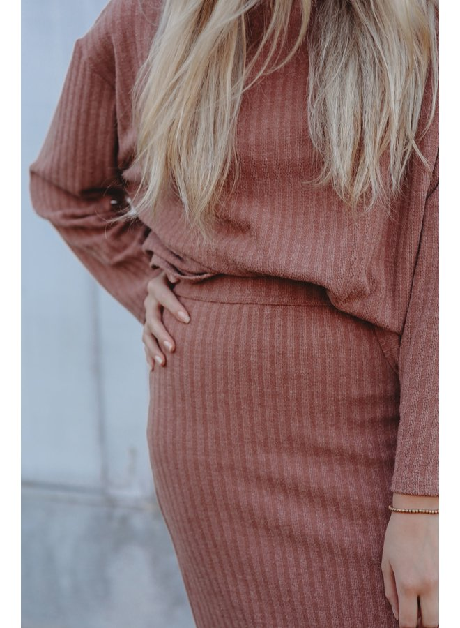 Rose Knit Turtleneck Sweater