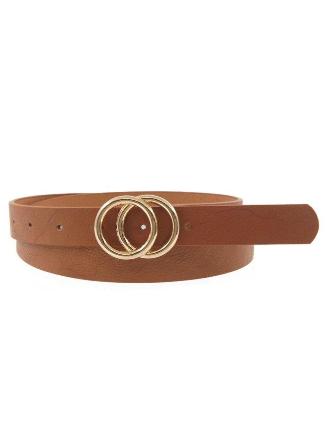 Double Ring Belt - Tan