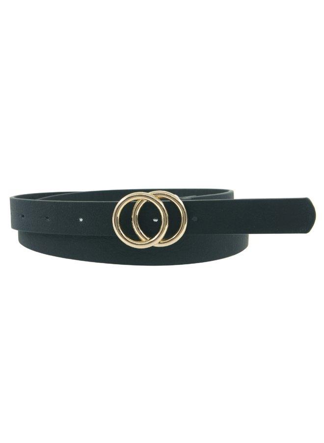 Double Ring Belt - Black