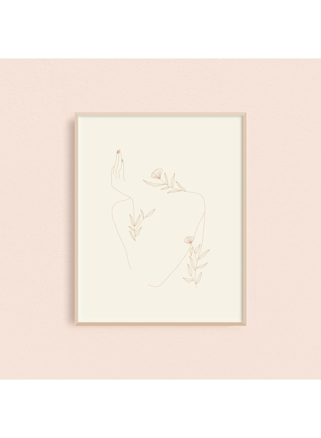 Bored Floral Woman Art Print