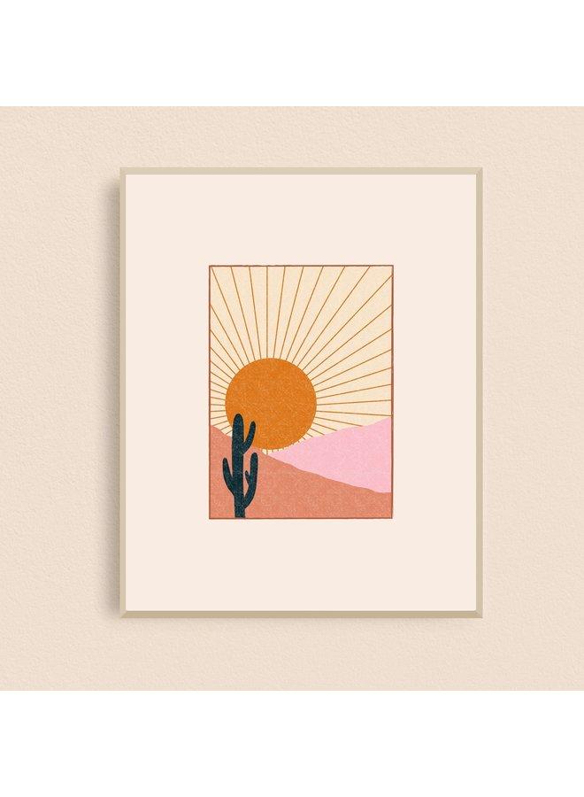 Cactus Desert Sun Art Print