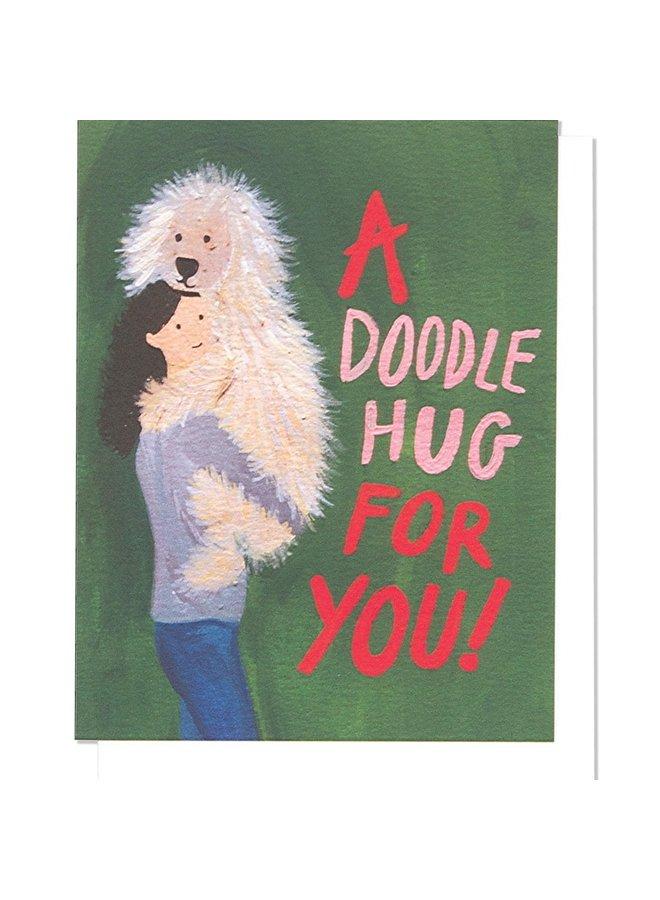Willow Doodle Hug Single Card