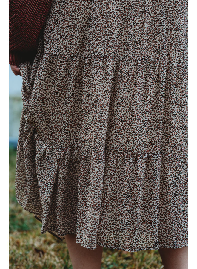 Cheetah Print Tiered Skirt