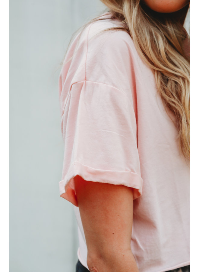 Essential Boxy Cropped Tee  Ballet