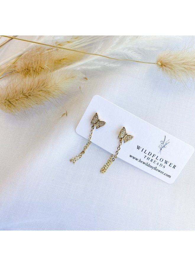 Butterfly Chain Studs