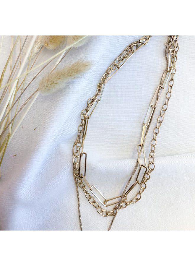 Triple Stack Chain Necklace