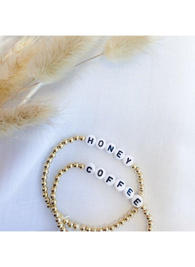 Gold Say Something Beaded Bracelets