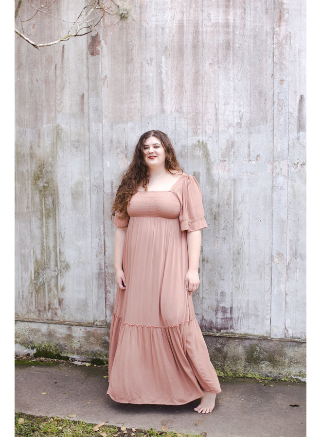 Tropical Punch Square Neck Maxi Dress