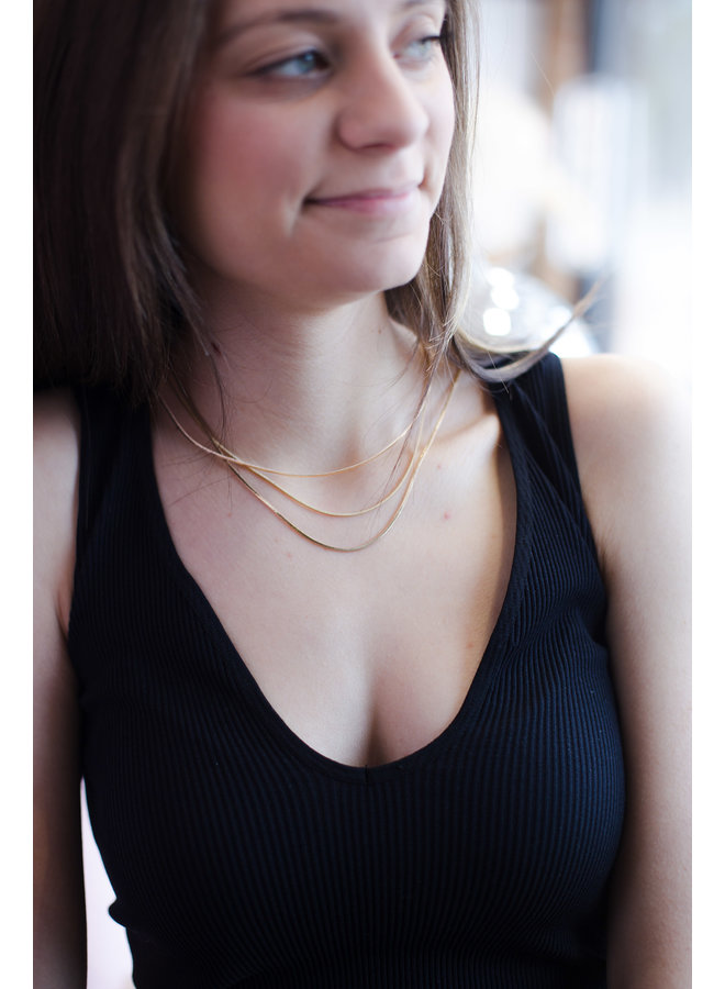 Dainty Chain Triple Layer Necklace