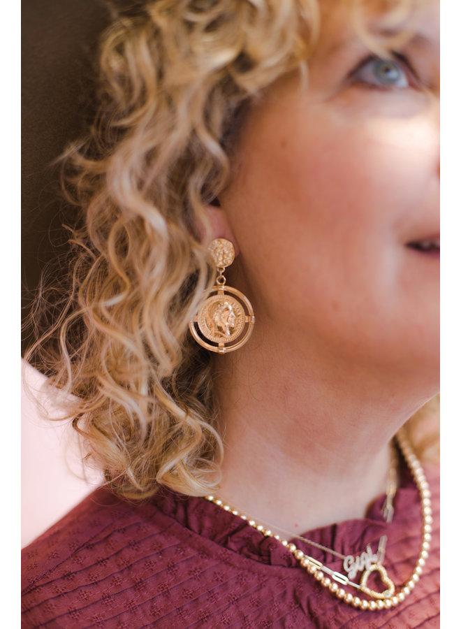 Caesar Coin Earrings
