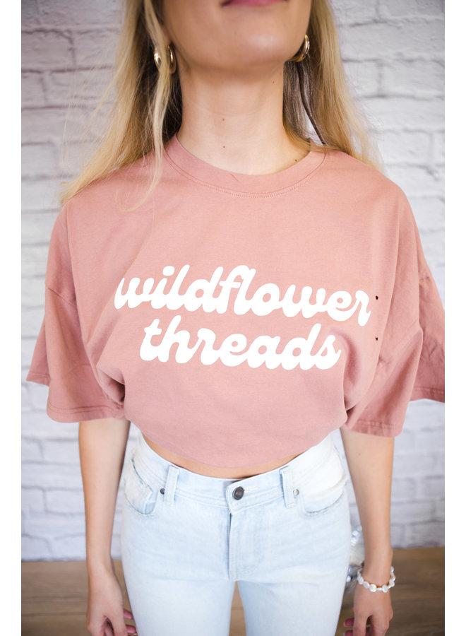Clay Wildflower Threads Tee