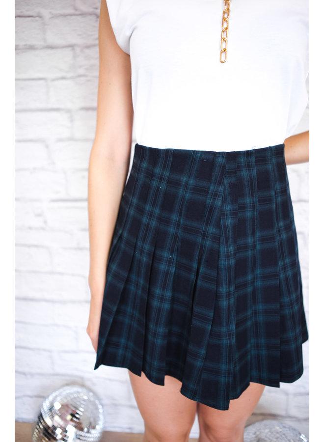 Navy Plaid Tennis Skirt