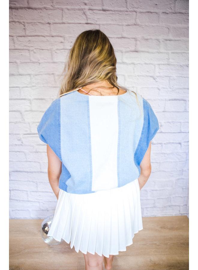 Denim Striped Blouse
