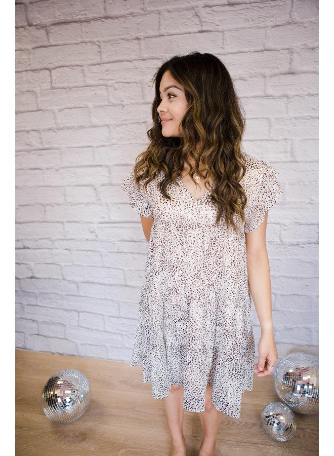 Leopard Print Shimmer Dress