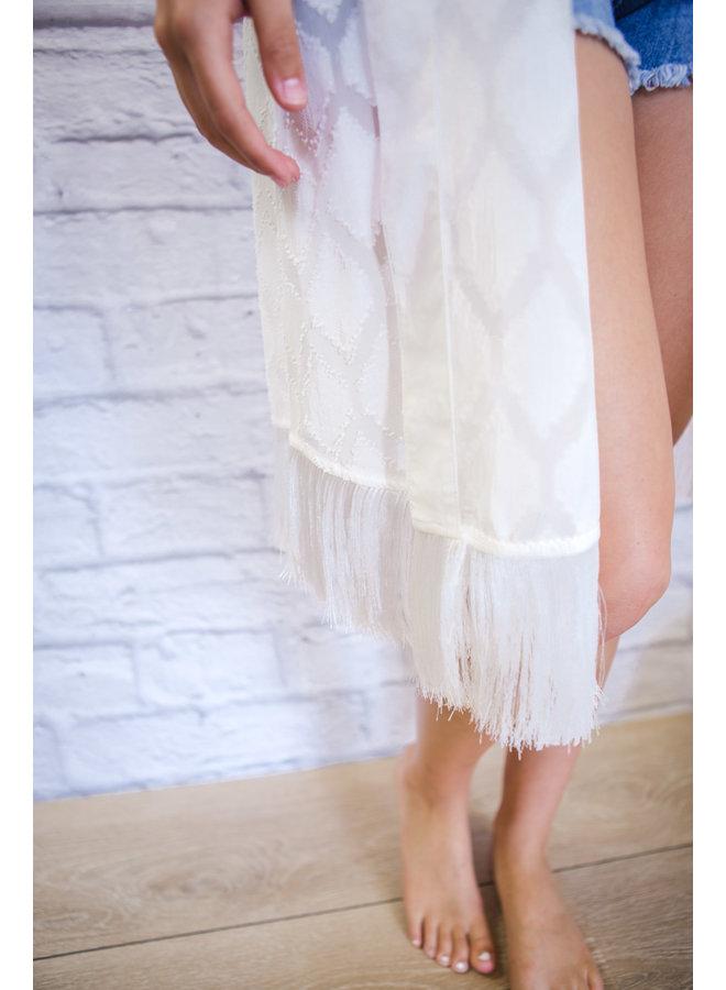 White Tassel Kimono