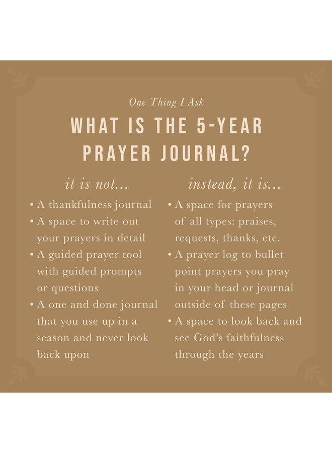 Edinburgh - One Thing I Ask 5 Year Prayer Journal