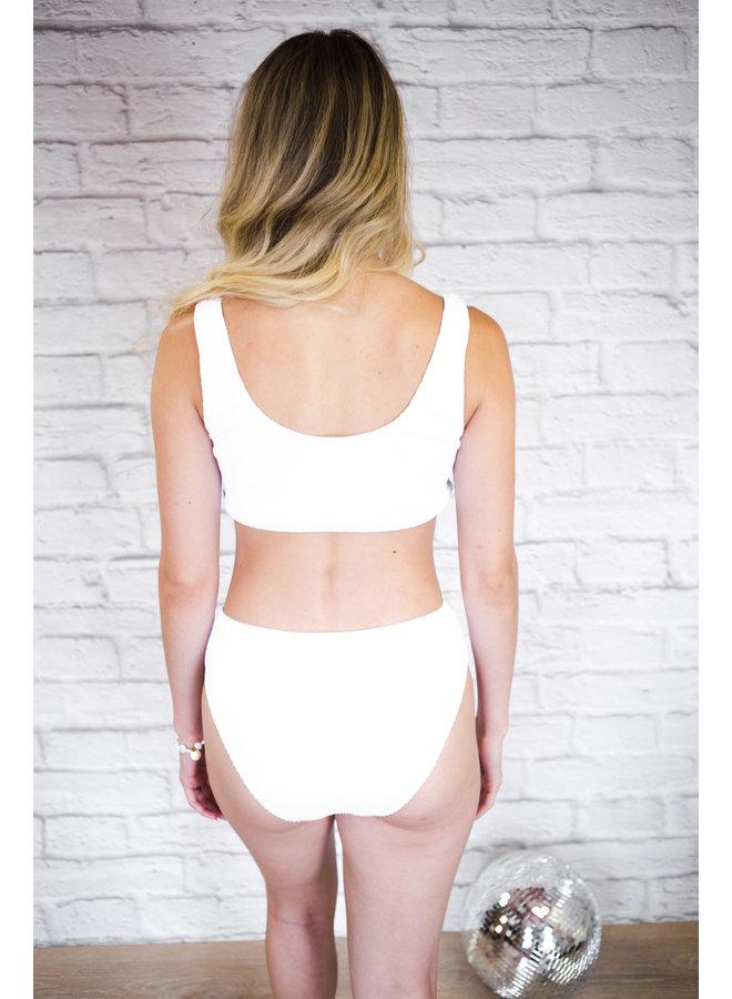 Sunshine Mood Textured Bikini Top