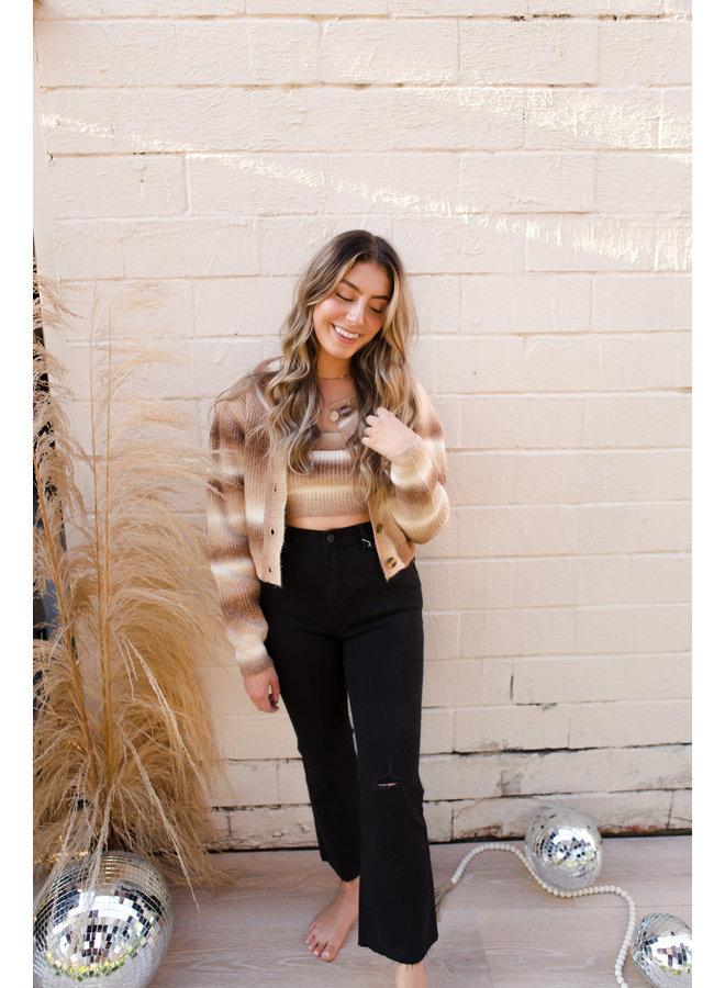 Brown Multi Cardigan