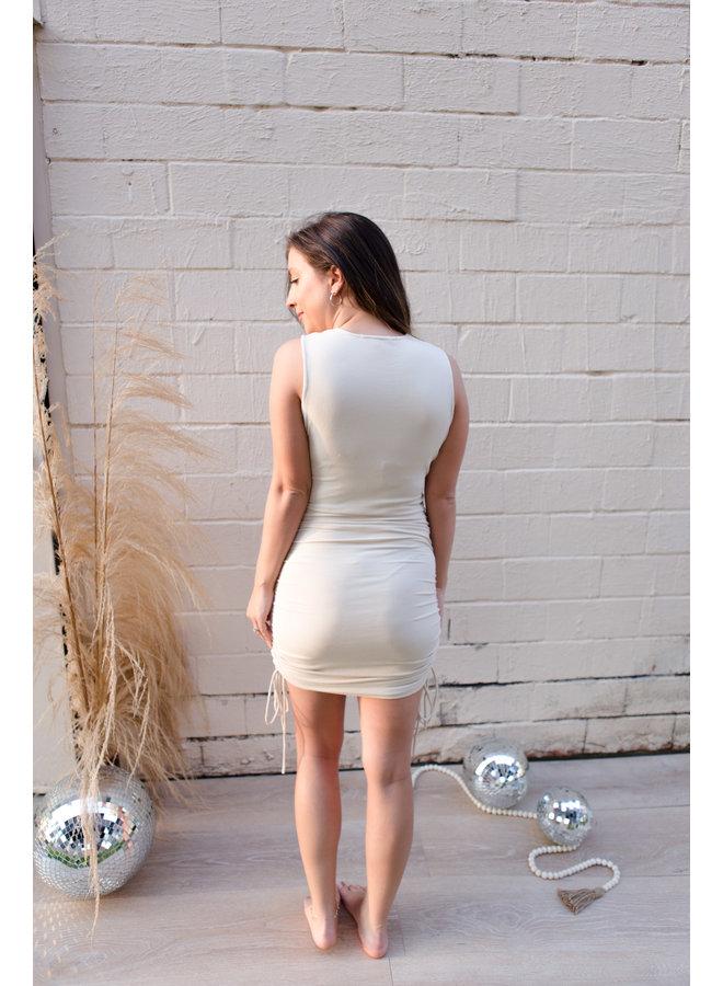Baby Rib Ruched Dress