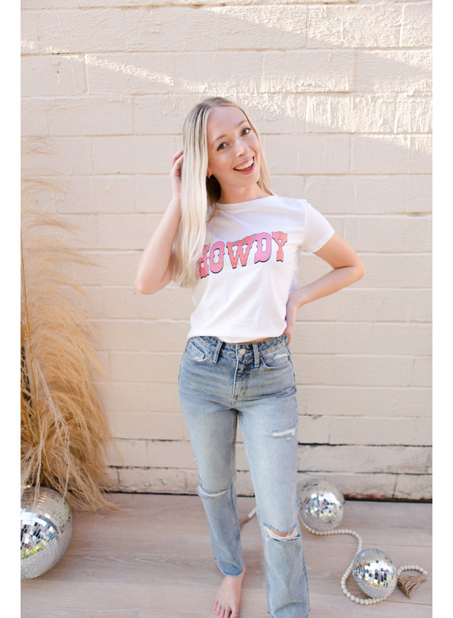Howdy Cropped Tee