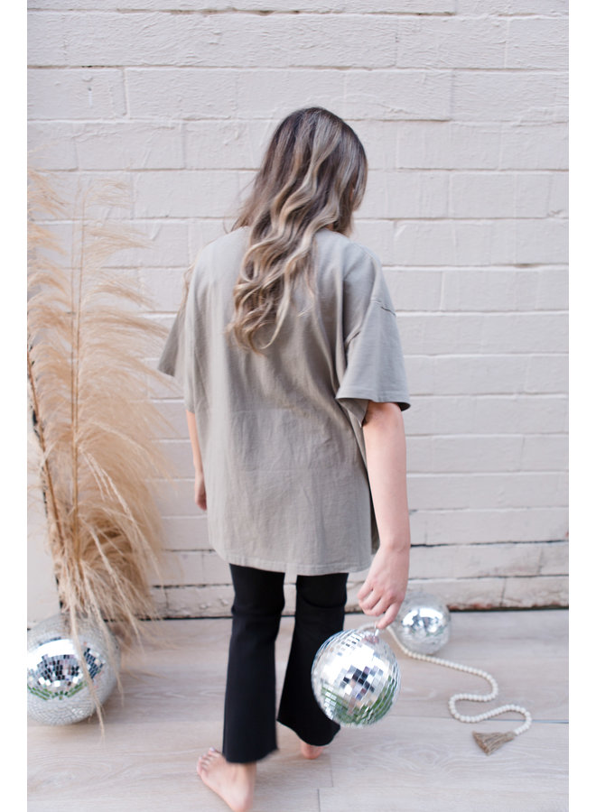 Greatest Love Story Ever Told Distressed Oversized Tee