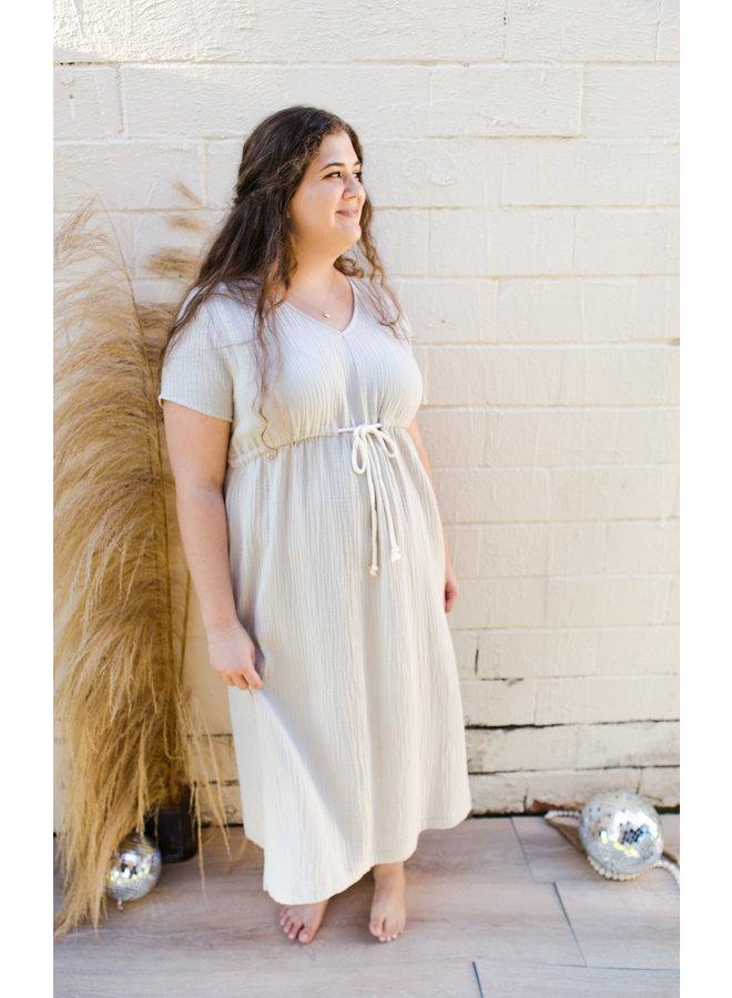 Shell Casual V- Neck Dress