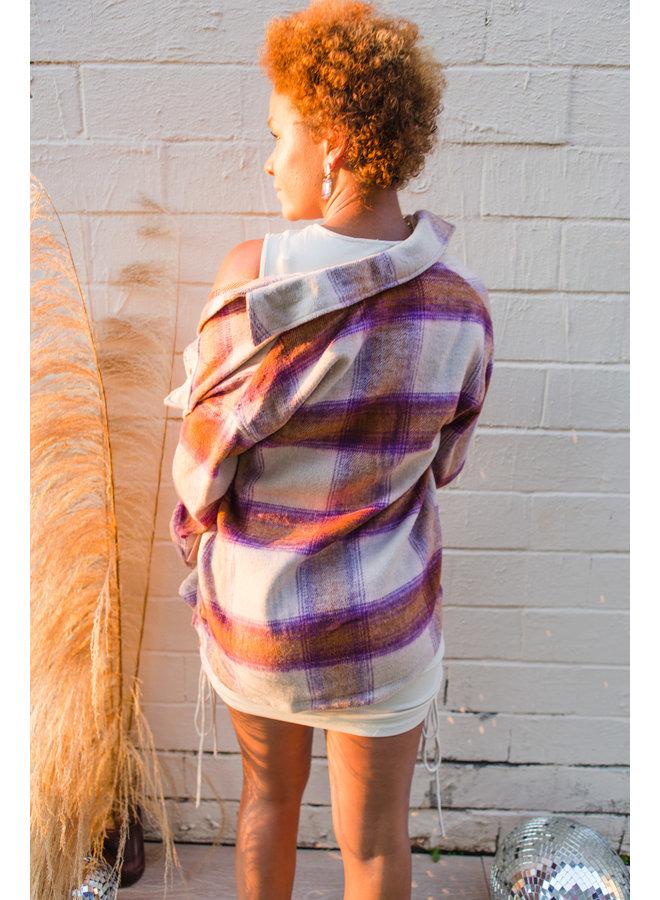 Blush Plaid Overshirt