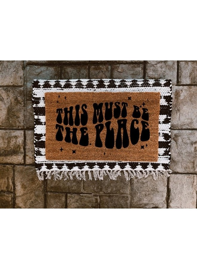 This Must Be The Place Door Mat